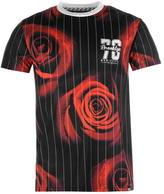 Fabric Pinstripe Rose T Shirt Mens