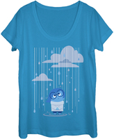 Fifth Sun Inside Out Sadness Cobalt Rain Tee - Women & Plus