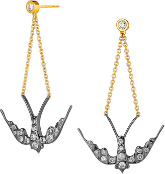 Syna Diamond Swallow Dangle Earrings