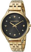 Karl Lagerfeld Women's 'Karoline' Quartz Stainless Steel Casual Watch, Color:-Toned (Model: KL3010)