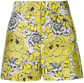 Alice + Olivia Fitted Floral Pattern Shorts