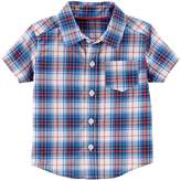 Carter's Baby Boy Red & Blue Plaid Button-Front Shirt