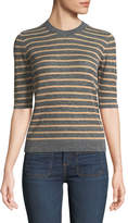 Veronica Beard Dean Crewneck Striped Sweater