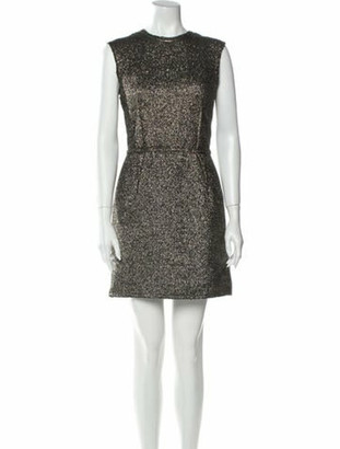 Lanvin Crew Neck Mini Dress w/ Tags Gold