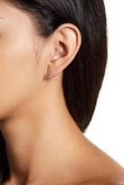 Nadri Curved Pave Bar Earrings
