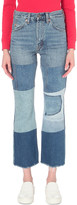 Levi's 517 patchwork slim-fit high-rise jeans