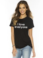 Peace Love World I Love Everyone Black Mini Mimi Crew Neck Tee