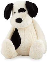 Jellycat Really Big Bashful Puppy Stuffed Animal, Black/Cream