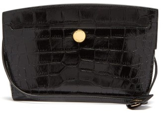 Burberry Society Crocodile-effect Leather Cross-body Bag - Black