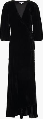 Ganni Aldine Velvet Maxi Wrap Dress
