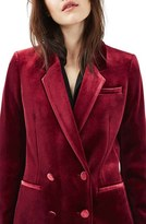 Topshop Women's Velvet Suit Jacket