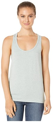 tasc Performance St. Charles Racer Tank Top (Aqua Gray Heather) Women's Sleeveless
