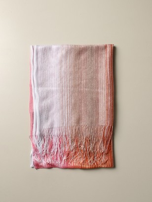 Missoni Scarf In Lurex And Shaded Knit