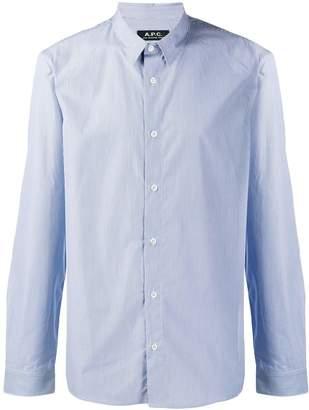 A.P.C. striped long-sleeve shirt