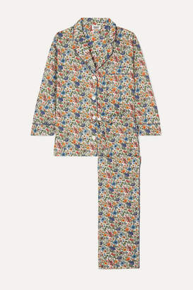 Sleepy Jones Marina Floral-print Cotton-poplin Pajama Set - Green