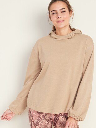 Old Navy French Terry Pleated-Back Swing Hoodie for Women
