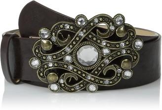 Steve Madden Women's Jewel Plaque Pant Belt
