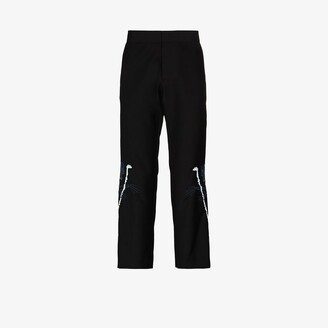 Edward Crutchley X Browns 50 Embroidered Wool Trousers - Men's - Wool