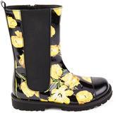 Dolce & Gabbana Tulip print leather boots