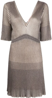 Twin-Set Ribbed Knit Mini Dress