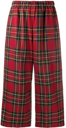 COMME DES GARÇONS GIRL Cropped Tartan Trousers