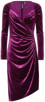 Norma Kamali Asymmetric velvet dress