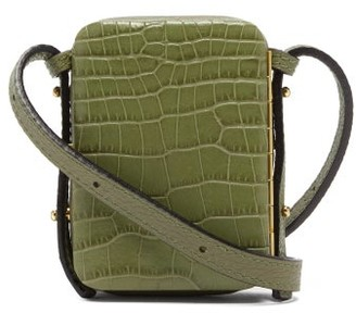 Lutz Morris Norman Crocodile-effect Leather Belt Bag - Green