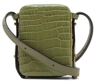 Lutz Morris Norman Crocodile-effect Leather Belt Bag - Mens - Green