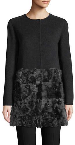 Max Mara Leva Shearling and Wool Coat