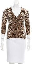 Dolce & Gabbana Leopard Print Knit Top