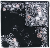 Alexander McQueen jewelled skull scarf - women - Silk - One Size
