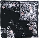Alexander McQueen jewelled skull scarf
