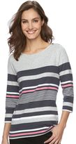 Croft & Barrow Women's Embellished Boatneck Tee