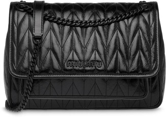Miu Miu Shiny Leather Shoulder Bag