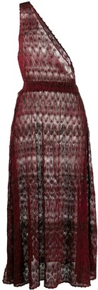 Missoni Mare One Shoulder Sheer Beach Dress