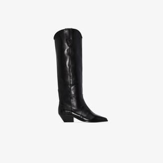 Isabel Marant Black Denvee 40 Western leather boots