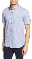 Ted Baker Men's Lorenze Extra Slim Fit Mini Check Sport Shirt