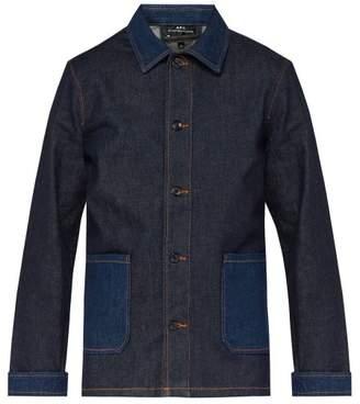 A.P.C. Mathis Point Collar Denim Jacket - Mens - Indigo