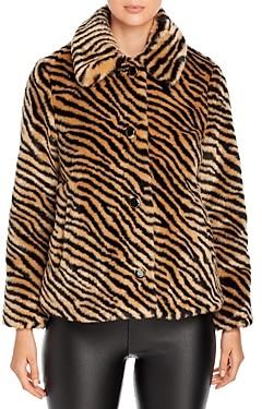 Kate Spade Zebra Print Faux Fur Coat