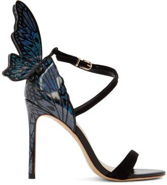 Sophia Webster Black and Multicolor Holographic Talulah Heeled Sandals