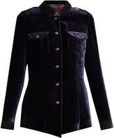 Etro High-neck velvet jacket