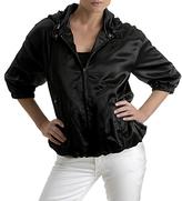 Silk Jacket with Hood