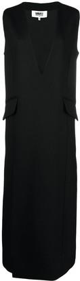 MM6 MAISON MARGIELA V-neck maxi shift dress
