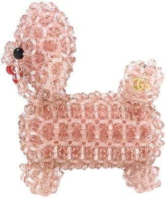Gucci Embellished dog brooch