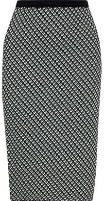 Diane von Furstenberg Mapel Metallic Merino Wool-blend Jacquard Pencil Skirt