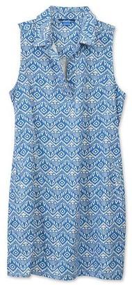 Kavu Women's Casual Dresses Batik - Batik Blue Breeze Zillah Sleeveless Shirt Dress - Women