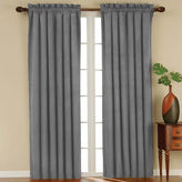Eclipse Faux-Suede Rod-Pocket Blackout Curtain Panel