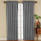 Eclipse Faux-Suede Rod-Pocket Blackout Curtain Panel