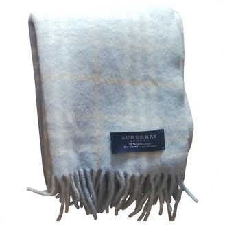 Burberry Turquoise Wool Scarves