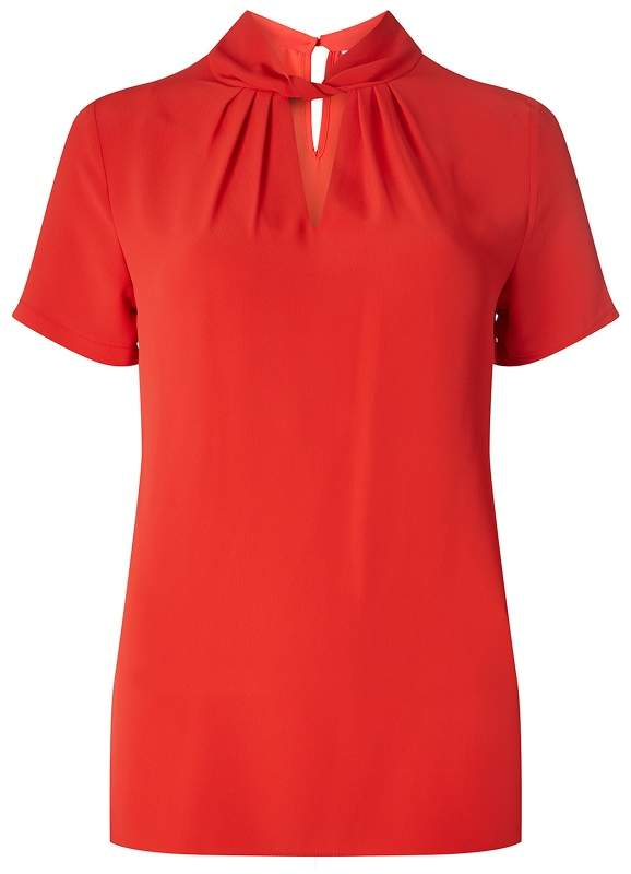 Dorothy Perkins Tall Red Twist Front Blouse